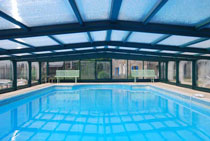 Inside pool with cover on